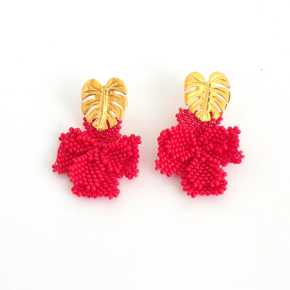 Red Single Graden Earrings - Estilo Concept Store