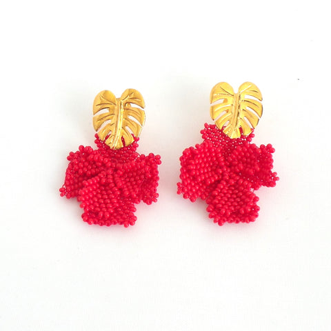 Red Single Graden Earrings