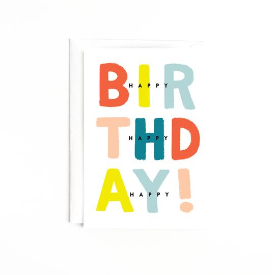 3x Happy Birthday Card - Estilo Concept Store