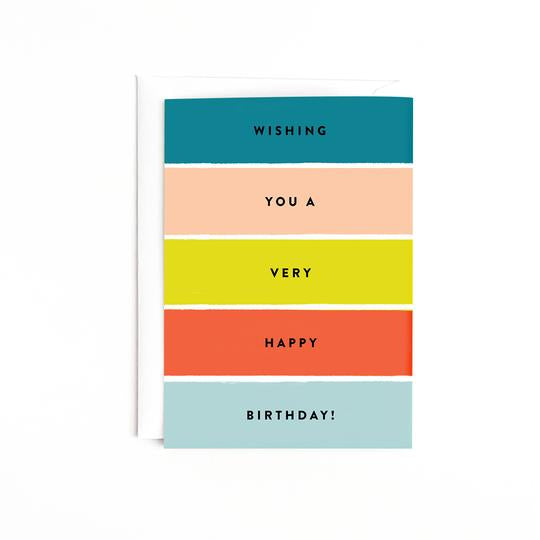 Birthday Stripes Card - Estilo Concept Store