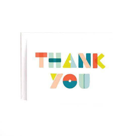 Thank You Shapes Card - Estilo Concept Store