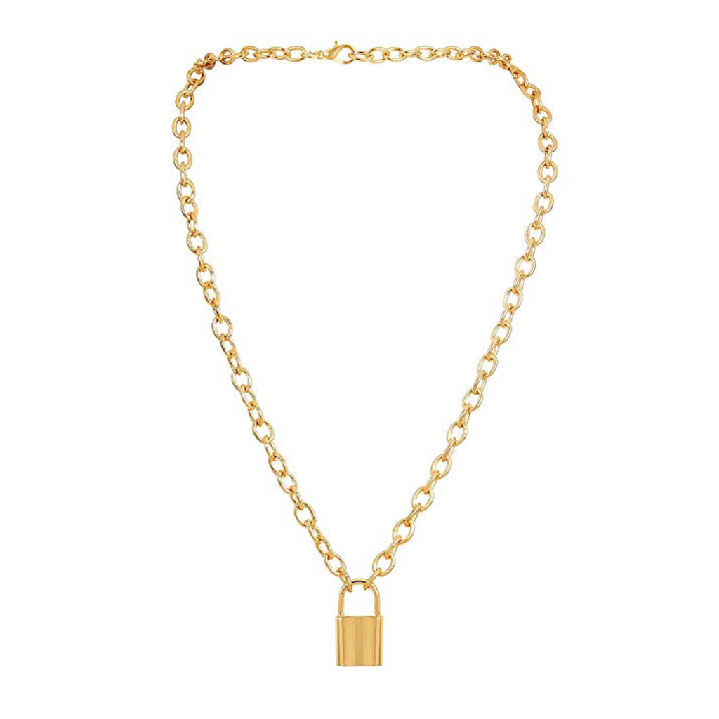 Padlock Gold Chain Necklace - Estilo Concept Store