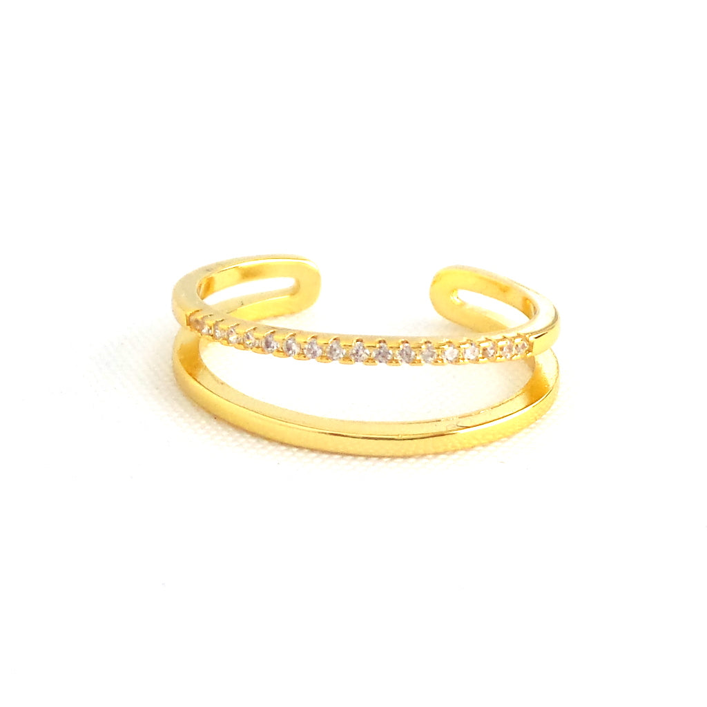 Double Row Gold Open Ring - Estilo Concept Store