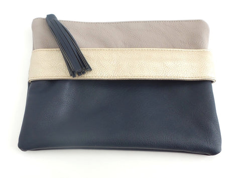 Color Block Hand-Strap Clutch