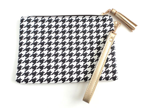 The Tourist Wristlet Houndstooth