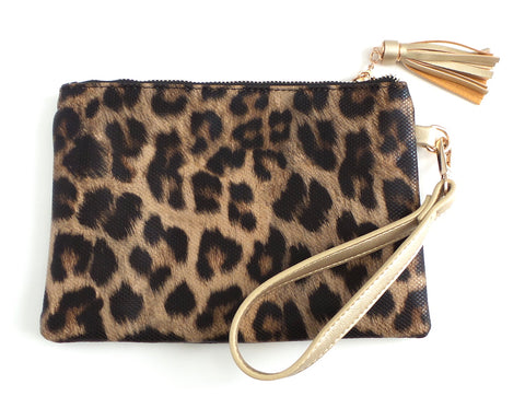 The Tourist Wristlet Leopard
