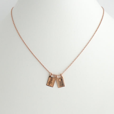 Rose Gold Scapulary Necklace - Estilo Concept Store