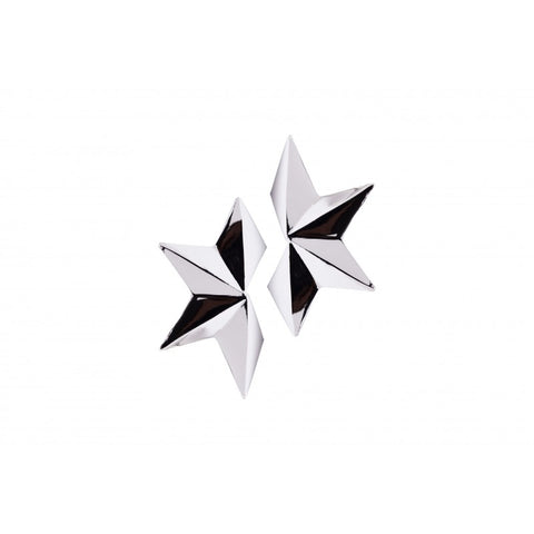 Silver Half Star Earrings - Estilo Concept Store