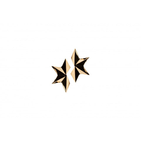 Small Gold Half Star Earrings