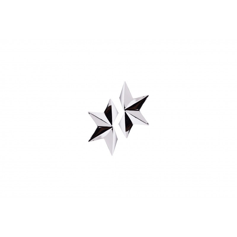 Small Silver Half Star Earrings - Estilo Concept Store