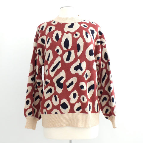 Brick Animal Print Sweater