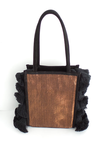 Black Handwoven Harmony Mini Bag - Estilo Concept Store