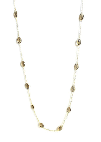 Faceted Glass Long Necklace *click for more colors
