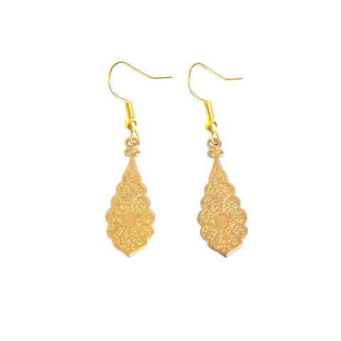 Gold Plated Pendant Earrings