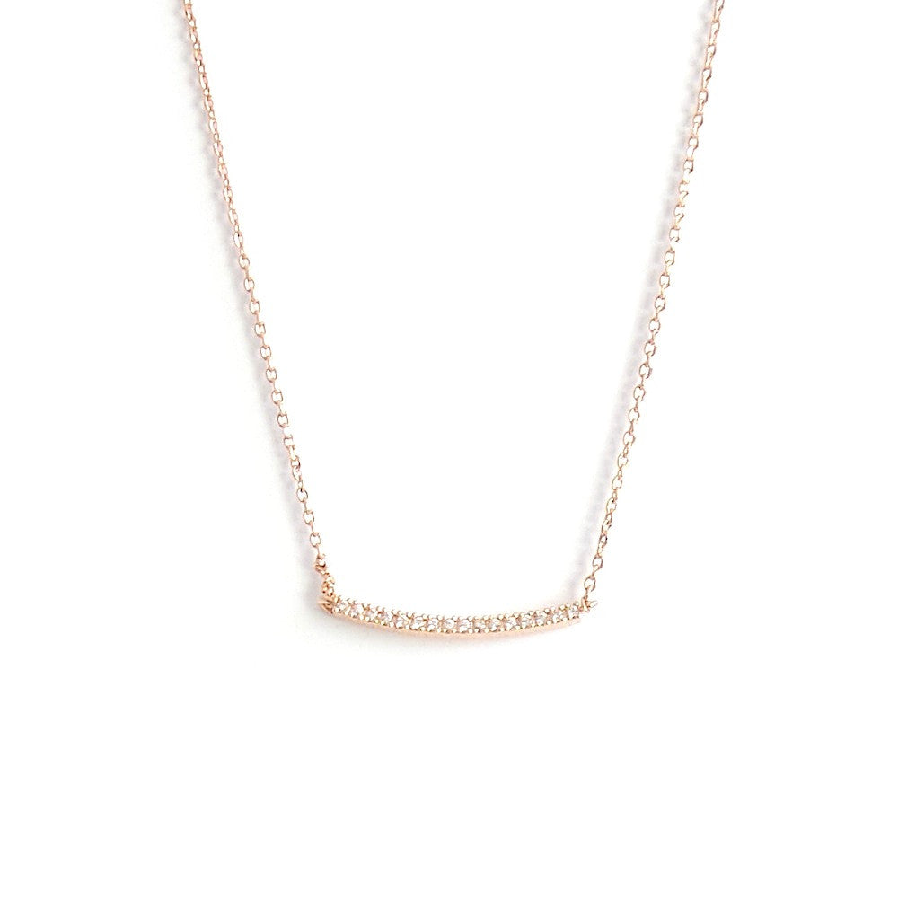 Pave Swoop Line Necklace *click for more colors