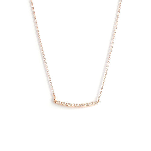 Pave Swoop Line Necklace *click for more colors - Estilo Concept Store