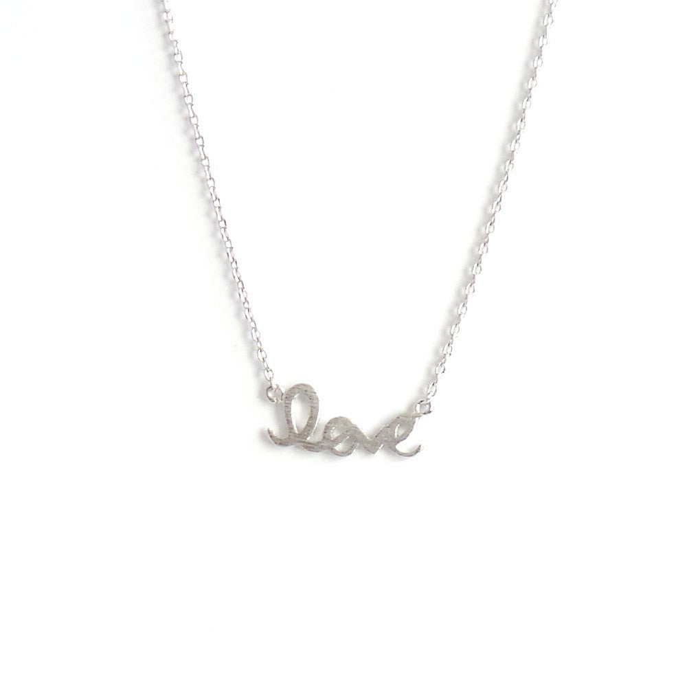 Love Necklace in Gold or Silver