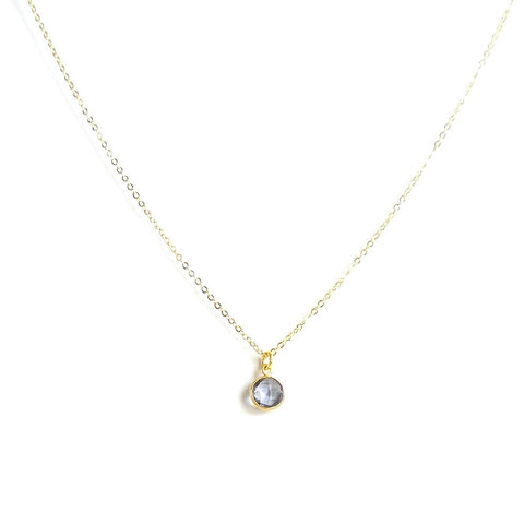 Small Round Hydro Quartz Necklace *click for more colors