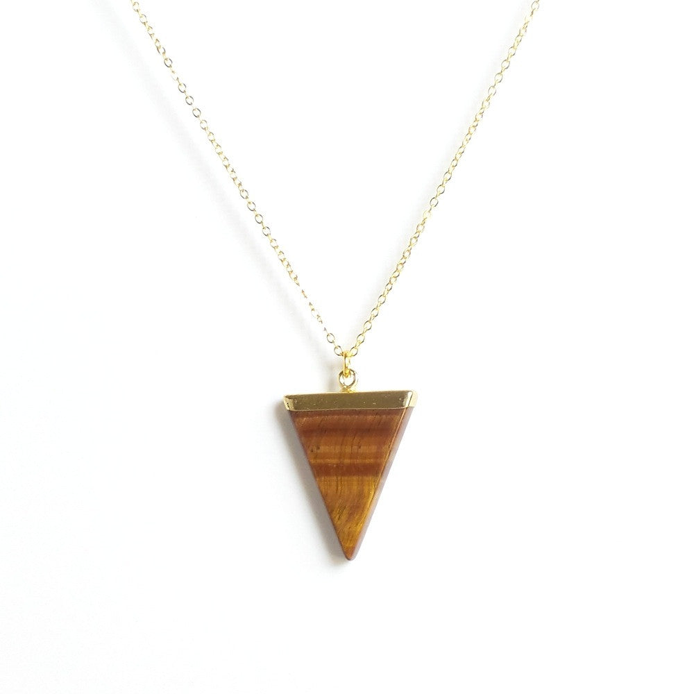 Triangle Pendant Necklace *click for more colors - Estilo Concept Store