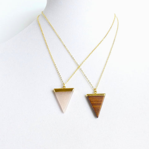 Triangle Pendant Necklace *click for more colors
