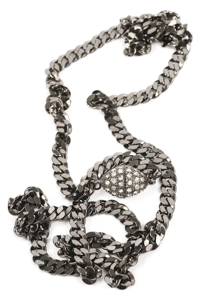 Chain Necklace with Pave Closure