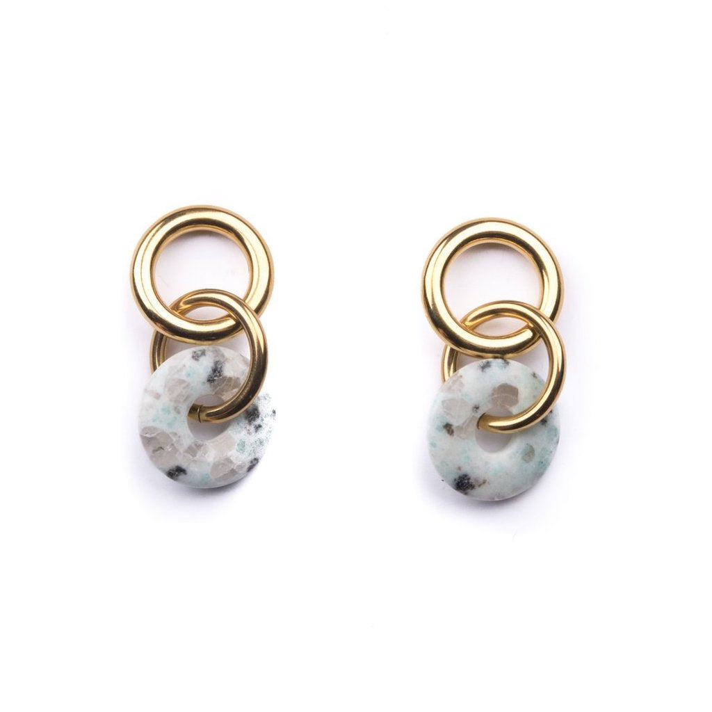 Linked Loop Kiwi Jasper Earrings - Estilo Concept Store