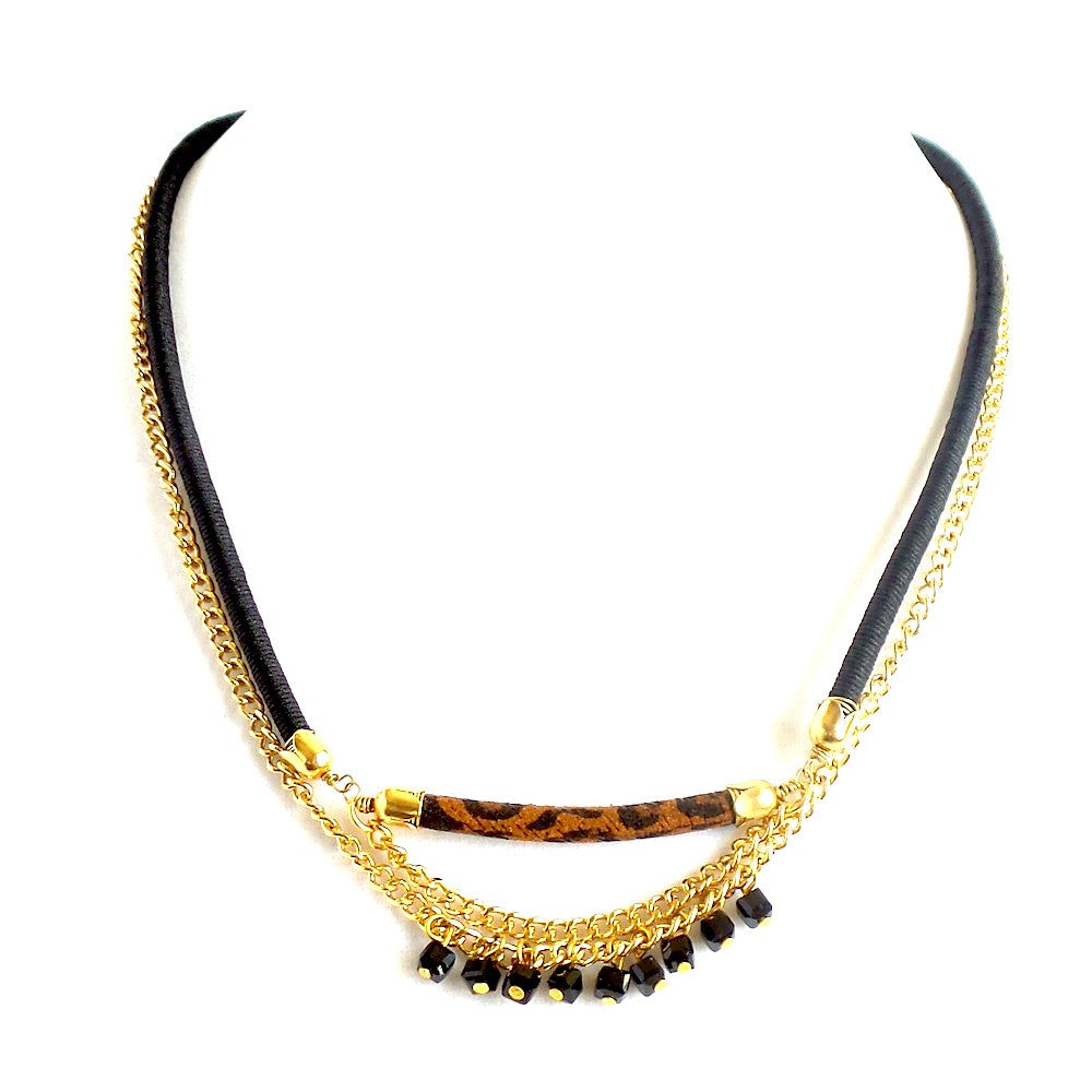 Animal Print Bar Necklace - Estilo Concept Store
