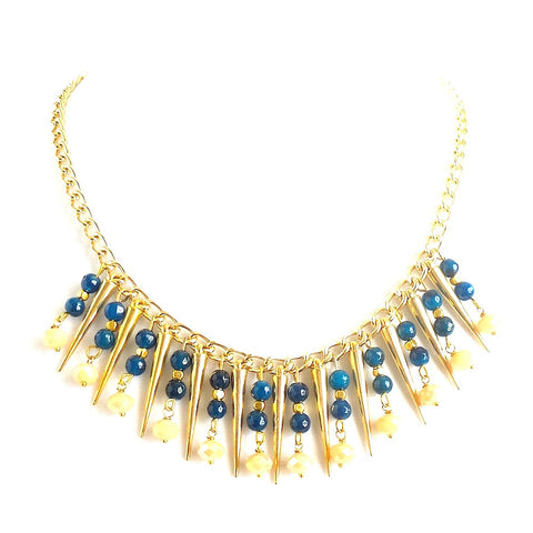 Golden Spikes Collar Necklace