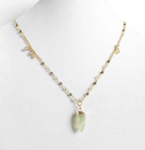 Rough Quartz Long Necklace