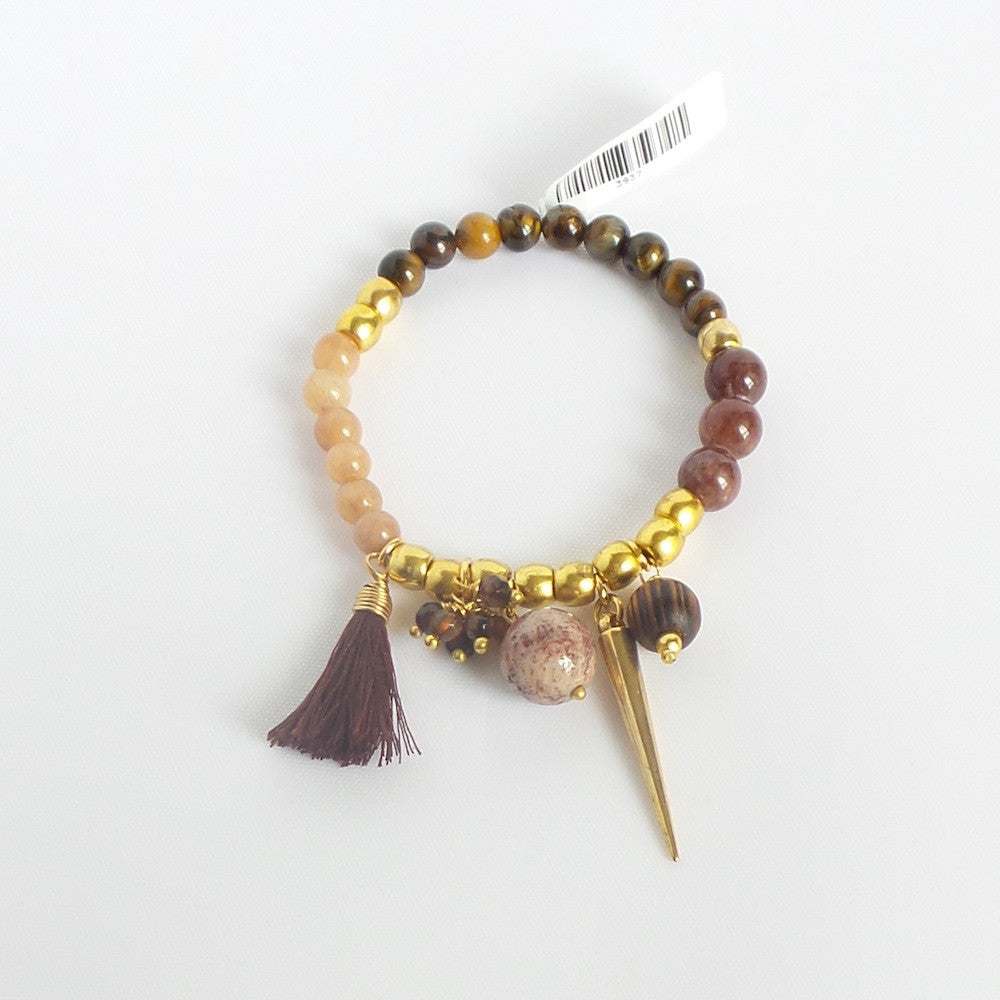 Spike and Tassel Bracelet