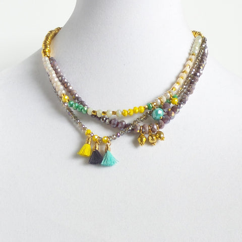 Triple Multicolor Necklace