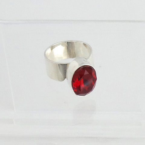 Red Swarovski Crystal Ring