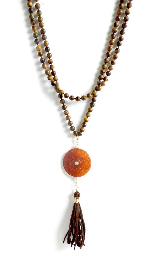 Super Long Tiger Eye Necklace