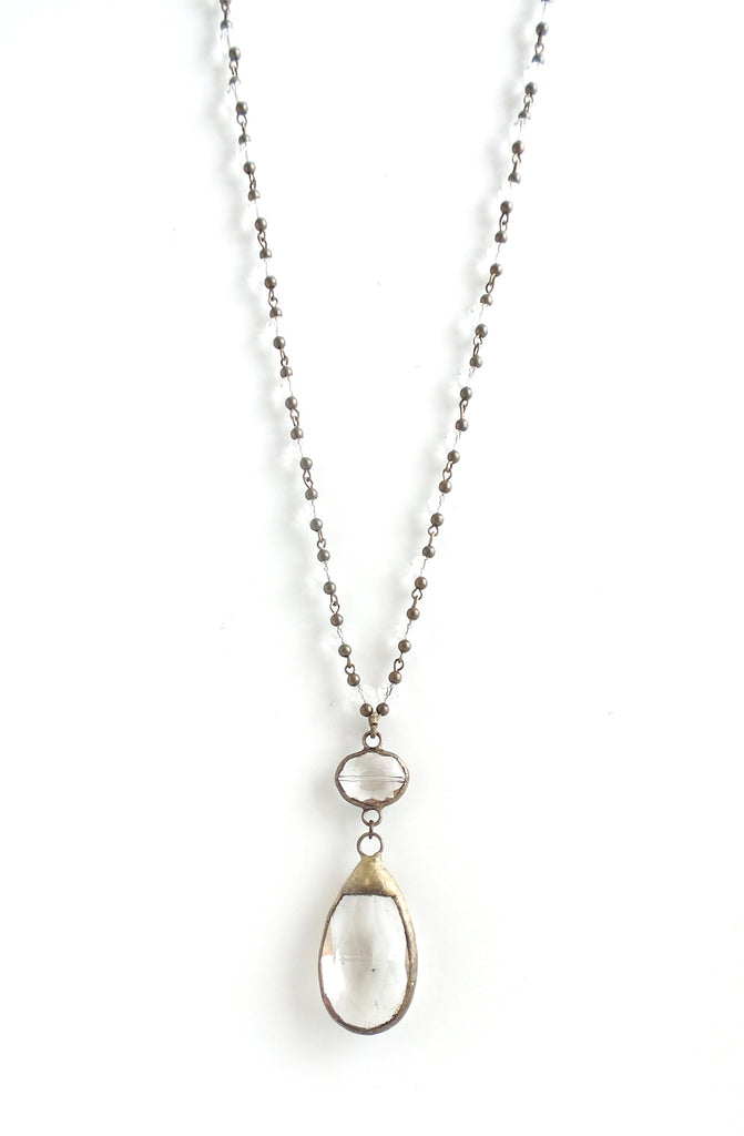 Bluebell Clear with Brass Long Necklace - Estilo Concept Store