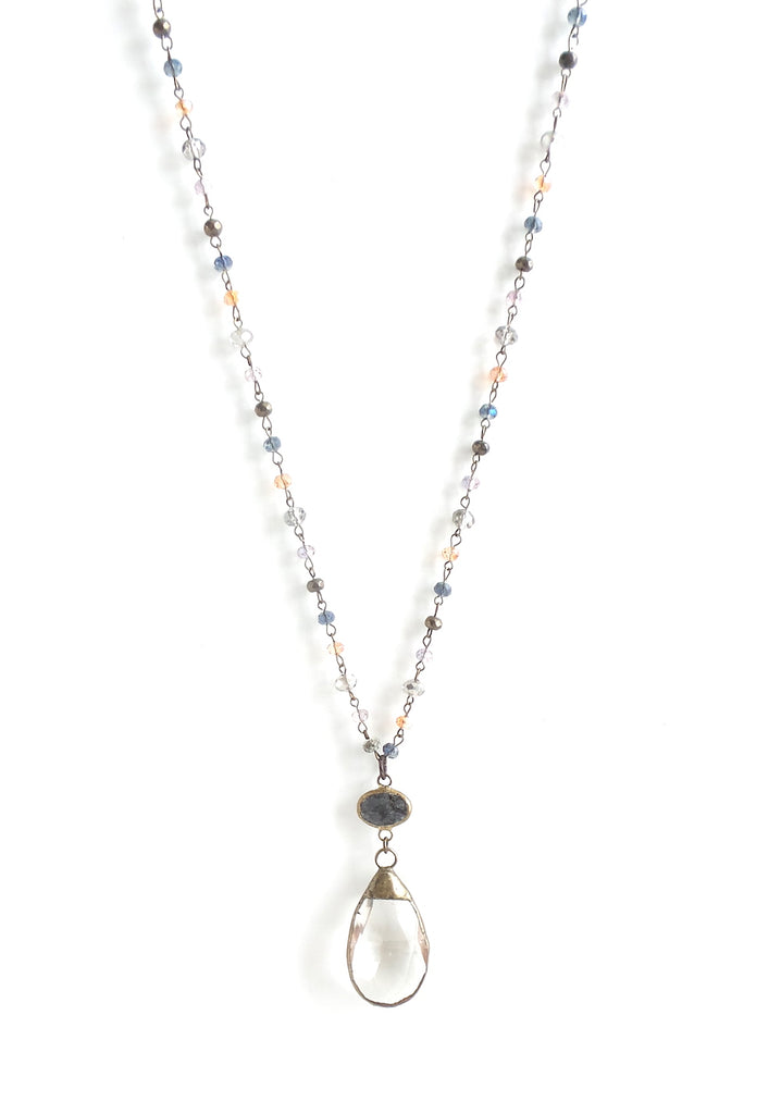 Bluebell Navy and Amber Long Necklace - Estilo Concept Store