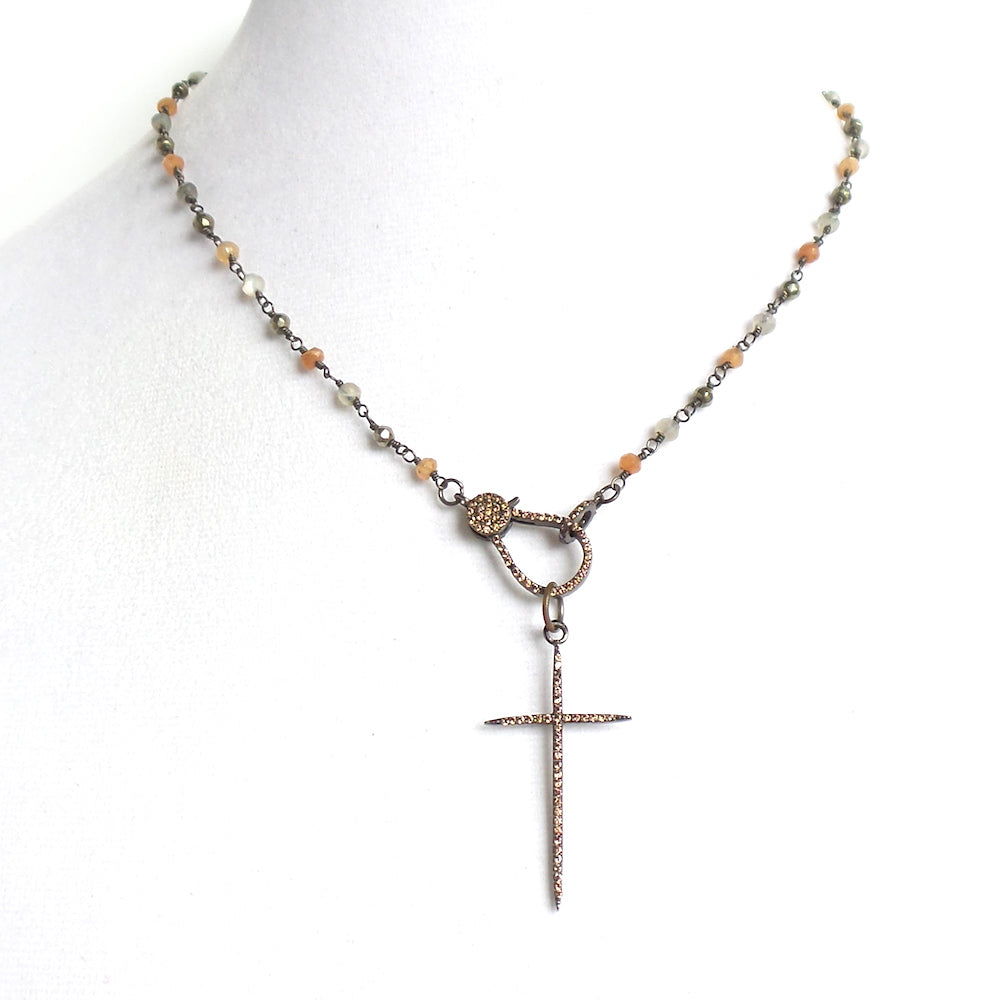 Cross Frontal Short Necklace - Estilo Concept Store
