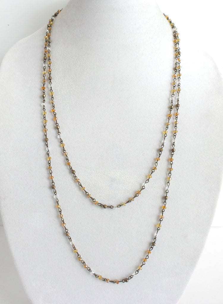 Lauren Yellow Multi Extra Long Necklace - Estilo Concept Store