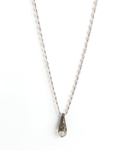 Sage Pale Champagne Long Necklace