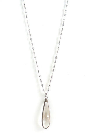 Snowdrop Clear Long Necklace