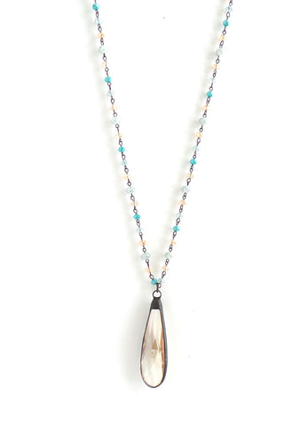 Snowdrop Island Sunrise Long Necklace