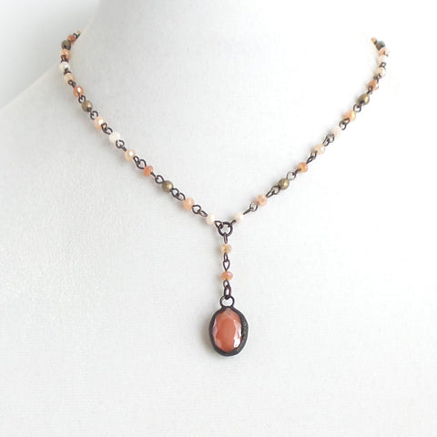 Valeria Peach Multi Short Necklace