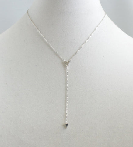 Double Silver Triangle Y-Necklace - Estilo Concept Store