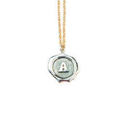 Big Silver Letter Necklace *click for more letters