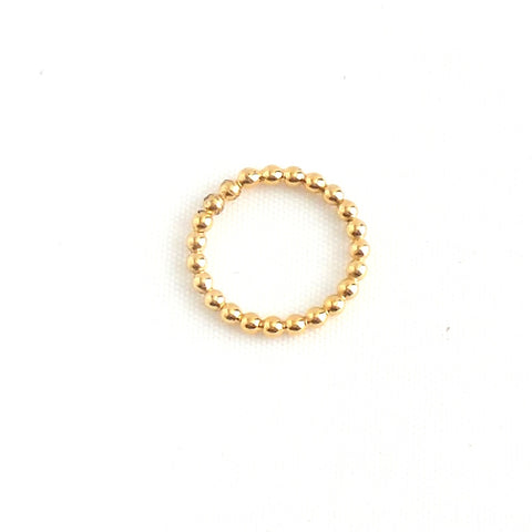 Beaded Golden Ring