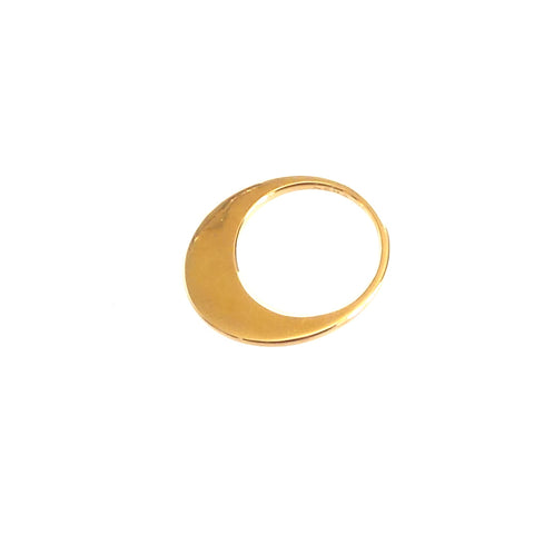 Crescent Moon Gold Ring
