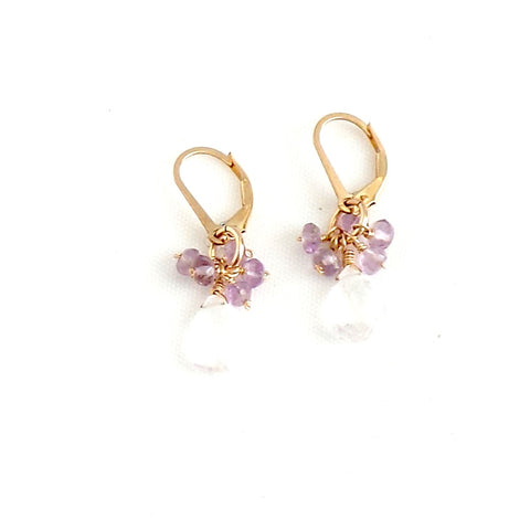 Crystal Quartz and Amethysts Earrings - Estilo Concept Store