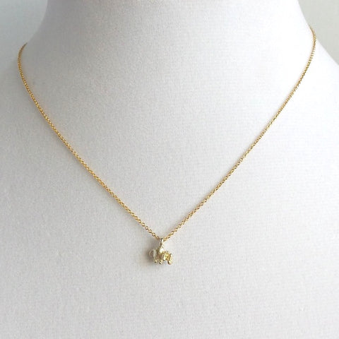 Elephant Charm Pendant Necklace