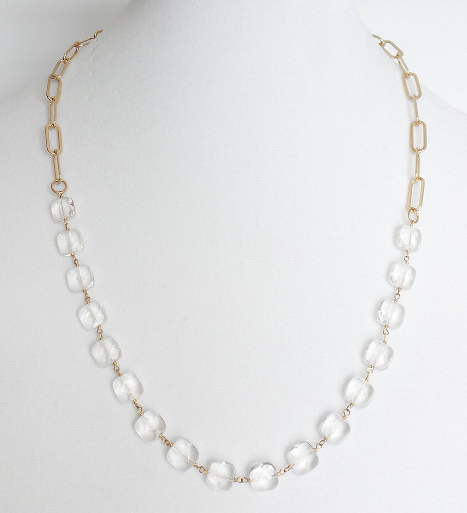 Open Link and Quartz Necklace - Estilo Concept Store