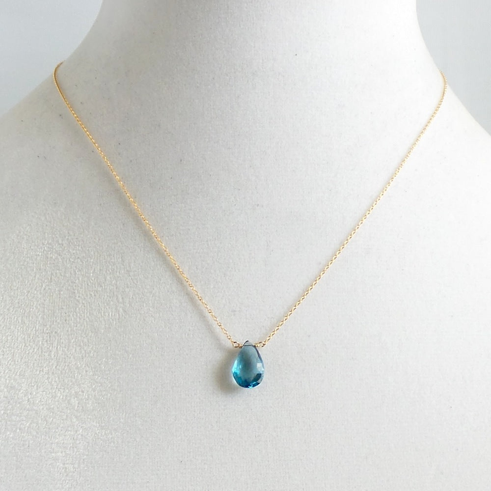 London Blue Topaz Pendant Necklace - Estilo Concept Store