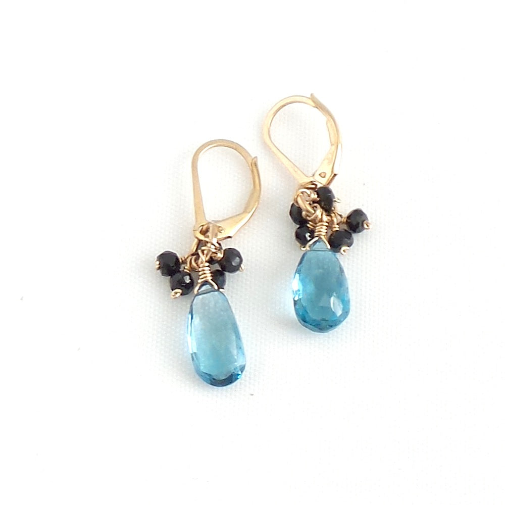 London Topaz and Black Spinels Earrings - Estilo Concept Store